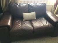 Leather Suite For Sale, Just Been Reduced For Quick Sale