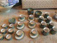 Denby regency green craftsman's mugs, cups, saucers, bowls