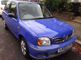 Blue Nissan Micra 2002 Very Good Condition 998cc