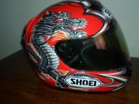 shoei x spirit full face crah helmet size xl
