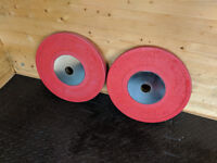 Body Power Deluxe Rubber Olympic 25kg Plates - pair RRP £170