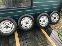 "Ford transit steel wheels 15"" and tyres"