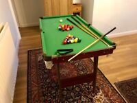 Standing Mini Pool/Snooker Table 140cm length