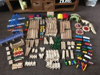 Huge wooden train track set approx 185 pieces