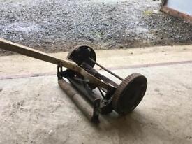 Pushing lawnmower