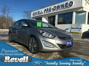 2016 Hyundai Elantra GLS...1-owner, 6-speed manual, Moonroof, al