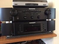 Marantz CD player CD6005 & Amplifier PM6005 and Monitor Audio Bronze 2 Speakers. All Mint Boxed.