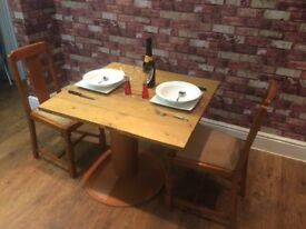 TABLE AND 2 CHAIRS .,
