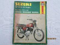 USED HAYNES WORKSHOP MANUAL SUZUKI GP 100 & 125 SINGLES