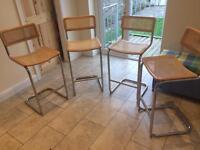4 John Lewis tall bar stools