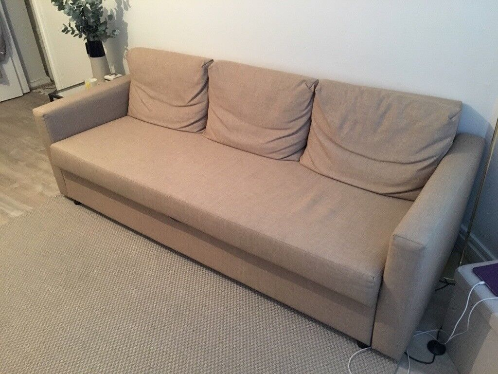 design de qualité 03236 71a18 FRIHETEN (IKEA) - Three-seat Sofa bed (colour: beige) - 2 years old -  excellent conditions   in Hammersmith, London   Gumtree