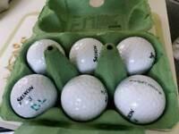 6 used srixon soft feel golf balls