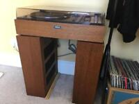 1970s Yamaha MC 40 record player with two NS 230 speakers