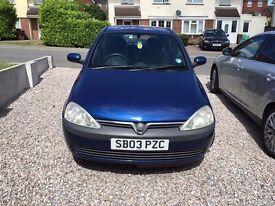 Vauxhall Corsa 1L Petrol Blue