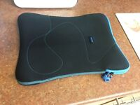black Laptop zip case