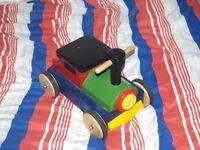 John Crane WOODEN RIDE ON TRAIN for children aged 1+ vintage toys push/pull