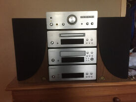 Denon Componet System Brusher Steel/Castle Speakers