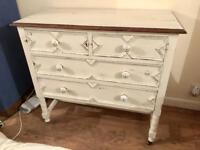 White Victorian Chest of Drawers