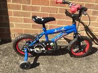 """Silverfox Jolly Roger 12"""" Kids' Bike with Stabilisers"""