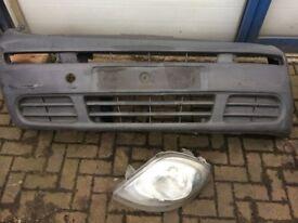 vauxhall vivaro front bumper and passenger side headlight