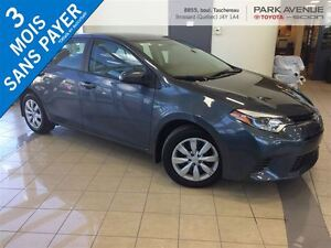 2015 Toyota Corolla SIEGE CHAUFFANT, BACK UP CAM, BLUETOOTH