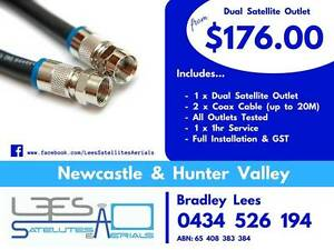 Dual Satellite Outlet $176.00 Cardiff Lake Macquarie Area Preview