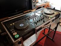 CDJ 1000 mk3 x2, DJM 800, Flight case and stand