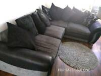 Large cushion back sofa