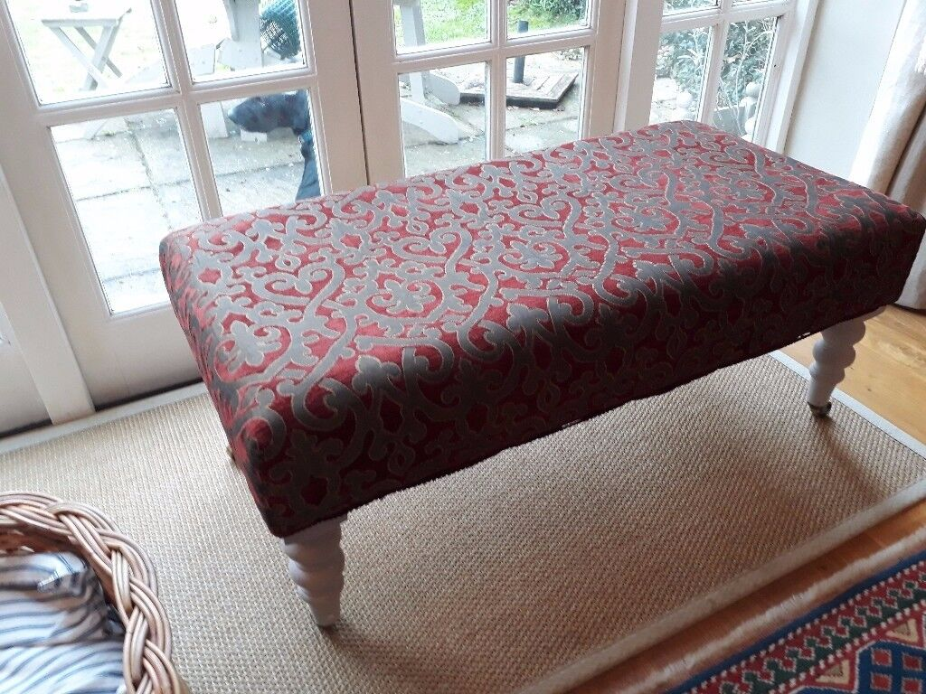 Fabulous and comfortable deeply padded footstool/coffee table