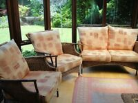 3 piece Cane furniture