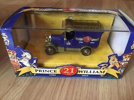 Prince William 21st Birthday LLEDO Bull Nose Van