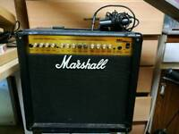 Marshall mg50 dfx 50w amplifier with foot pedal
