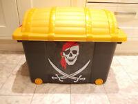 Plastic Pirate Storage Chest Tub on wheels