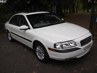 VOLVO S80 2.4 4dr Auto [170bhp] 1 OWNER + HALF LEATHER + S ROOF + CALL 01162149247 (white) 1999