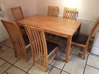 Solid Wood Dining Table and Chairs (collection only)