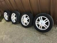 Ford Focus Zetec Mk1 alloy wheels & tyres