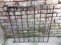 Patio garden cast iron gate W 84cm H 101cm