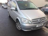 2011 11reg Mercedes Vito 2.1 Cdi Traveliner Eco Manual Silver 9 Leather Seats face lift