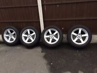 BMW 5 or 7 Series Dunlop Winter Tyres with OEM Alloys