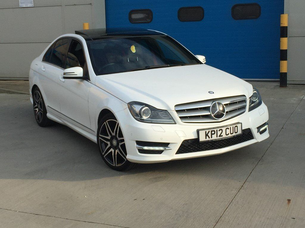 mega spec 2012 mercedes benz c class c220 cdi amg sport plus auto pan roof sat nav xenons. Black Bedroom Furniture Sets. Home Design Ideas