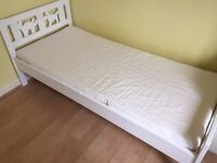 Ikea kritter junior bed with slatted base and mattress