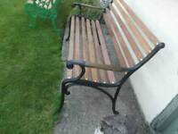 garden bench upcycled