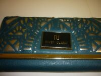 River island purse dark green colour inlaid pattern