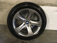 ALLOYS X 4 OF 19 INCH GENUINE BMW X6/OR/X5/FULLY POWDERCOATED INA STUNNING SHADOW/CHROME NICE ALLOYS