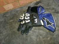 Alpinestar motorbike gloves blue/black
