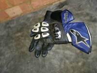 Alpinestar motorbike gloves blue/black