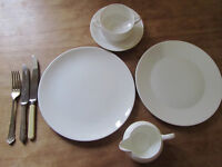 Dinner, Tea, Coffee Service Plain White Porcelain £90