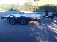 Car Trailer Twin Axle 10` X 6` Bed Size All Steel Construction No Ramps Needs Brakes Sorting Out
