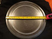 Universal Microwave Turntable Glass Plate with Flat Profile, 245 mm