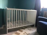 IKEA Hensvik White Wooden Cot